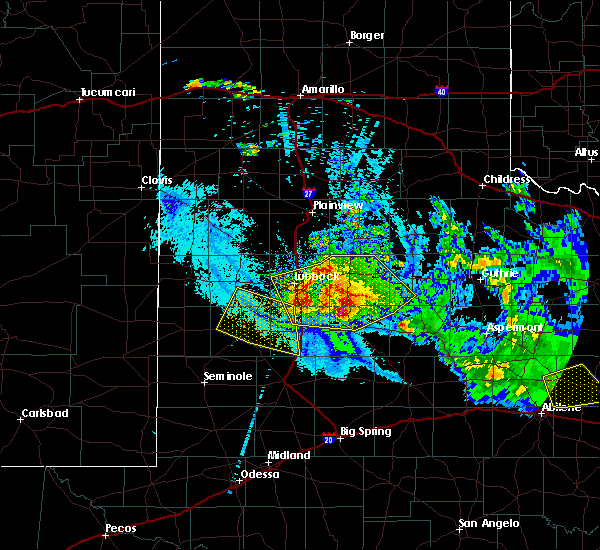 Radar Image for Severe Thunderstorms near Ropesville, TX at 6/4/2020 9:58 PM CDT