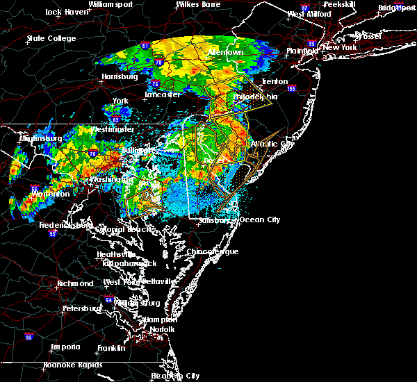 Radar Image for Severe Thunderstorms near Clayton, NJ at 6/4/2020 11:02 PM EDT