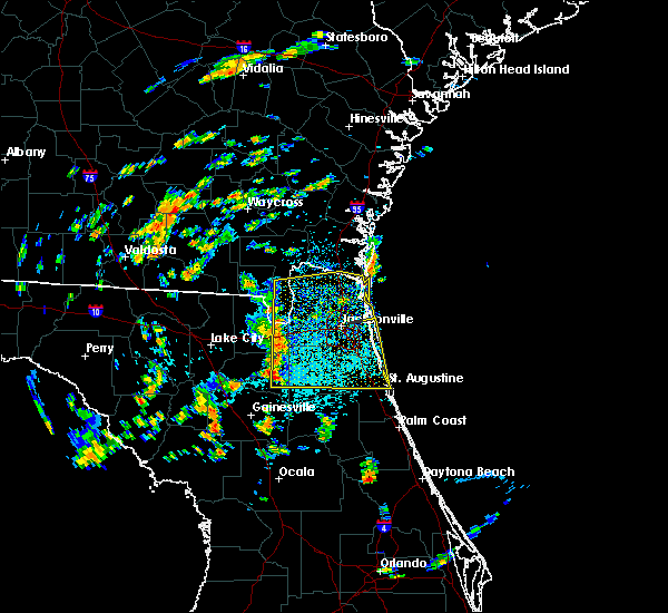 Radar Image for Severe Thunderstorms near Macclenny, FL at 6/28/2015 1:15 PM EDT