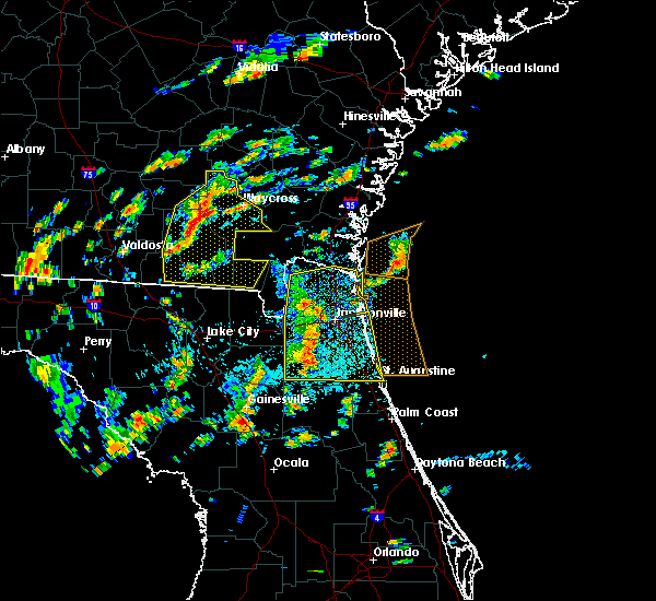 Radar Image for Severe Thunderstorms near Fleming Island, FL at 6/28/2015 1:40 PM EDT