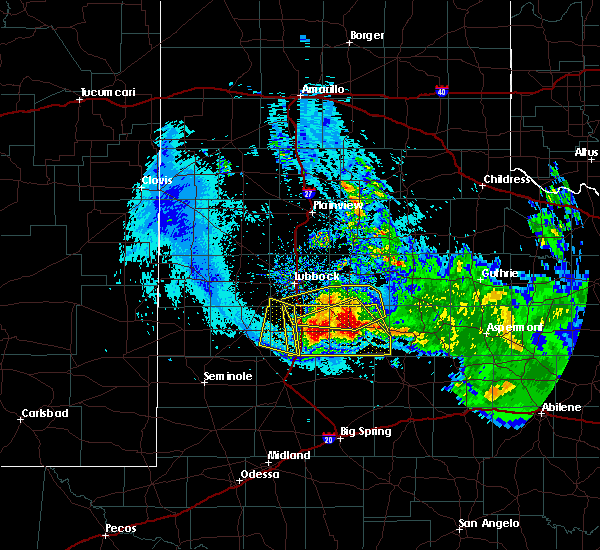 Radar Image for Severe Thunderstorms near Gail, TX at 6/4/2020 10:33 PM CDT