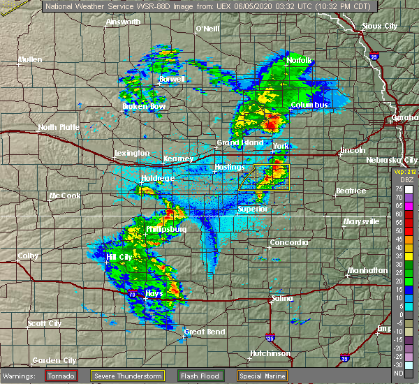 Radar Image for Severe Thunderstorms near Milligan, NE at 6/4/2020 10:42 PM CDT