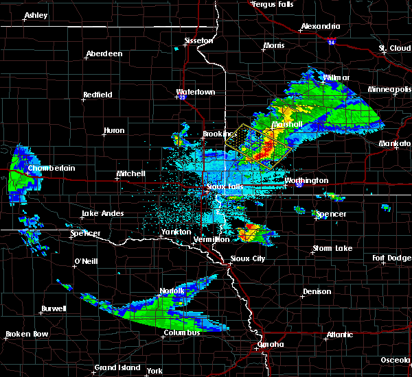 Radar Image for Severe Thunderstorms near Kinbrae, MN at 6/4/2020 10:44 PM CDT