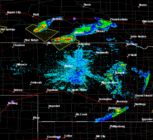 Radar Image for Severe Thunderstorms near Two Strike, SD at 6/4/2020 10:48 PM CDT