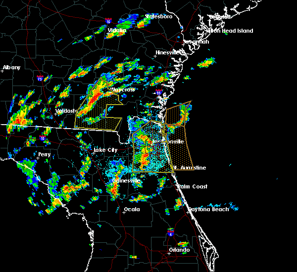 Radar Image for Severe Thunderstorms near Fleming Island, FL at 6/28/2015 1:46 PM EDT