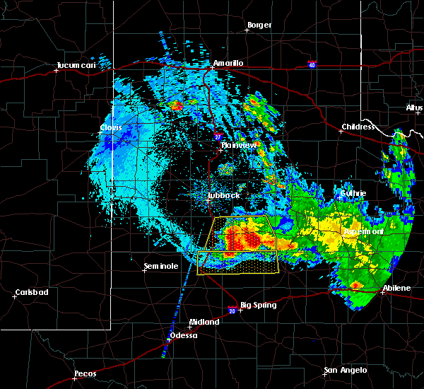 Radar Image for Severe Thunderstorms near Gail, TX at 6/4/2020 10:53 PM CDT