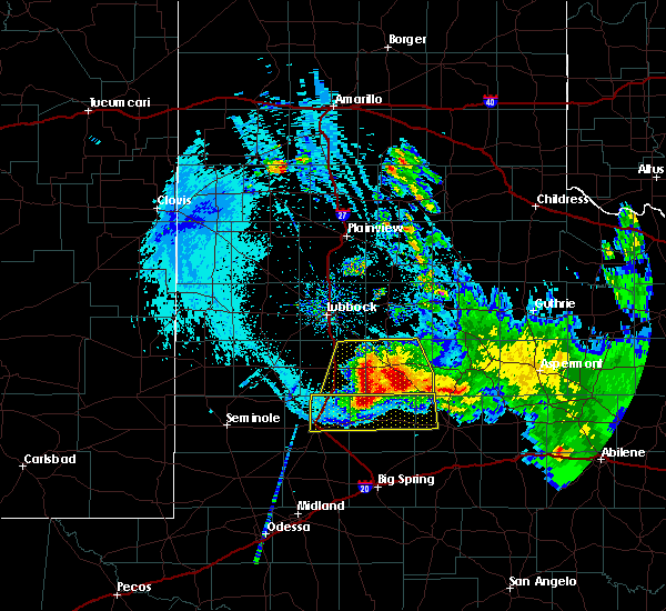 Radar Image for Severe Thunderstorms near Post, TX at 6/4/2020 10:57 PM CDT