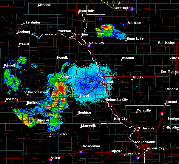 Radar Image for Severe Thunderstorms near Pleasant Dale, NE at 6/4/2020 11:09 PM CDT