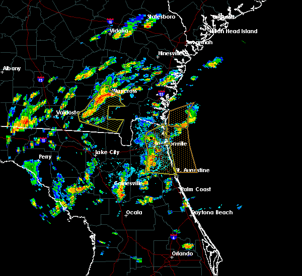 Radar Image for Severe Thunderstorms near Fleming Island, FL at 6/28/2015 1:57 PM EDT