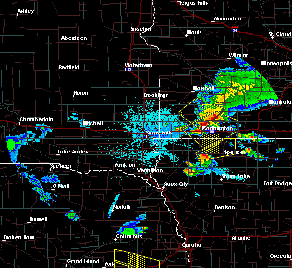 Radar Image for Severe Thunderstorms near Spencer, IA at 6/4/2020 11:23 PM CDT