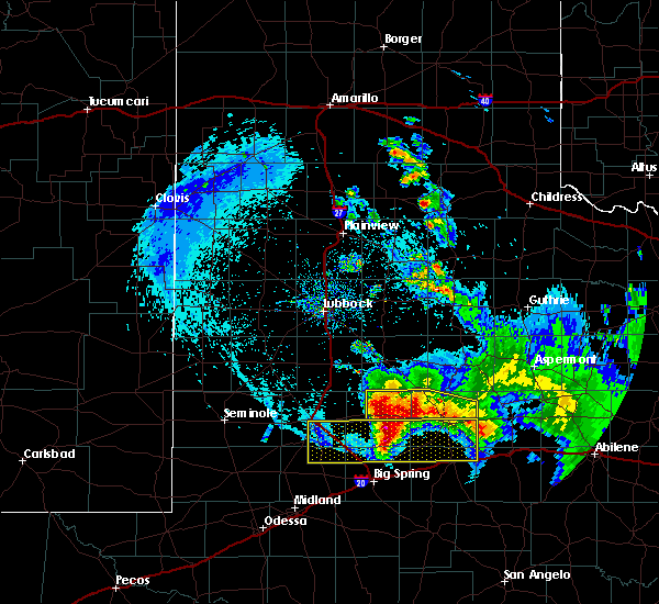 Radar Image for Severe Thunderstorms near Snyder, TX at 6/4/2020 11:34 PM CDT