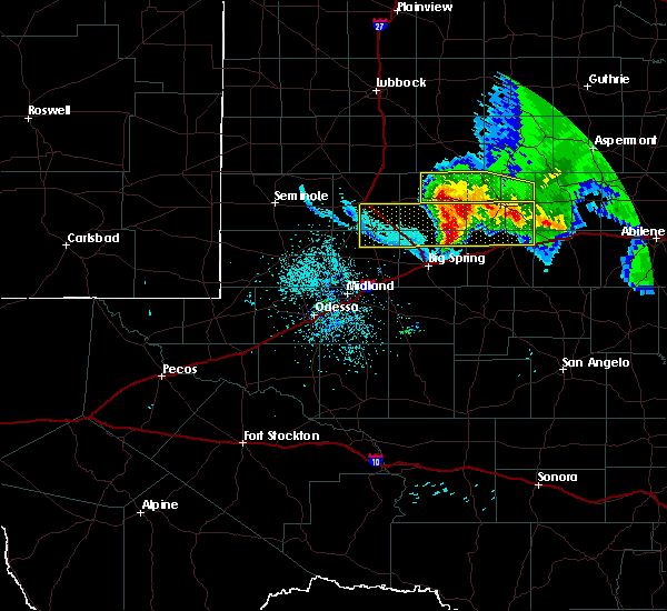 Radar Image for Severe Thunderstorms near Snyder, TX at 6/4/2020 11:50 PM CDT