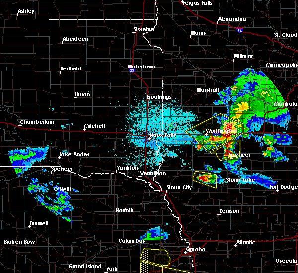 Radar Image for Severe Thunderstorms near Meriden, IA at 6/4/2020 11:55 PM CDT