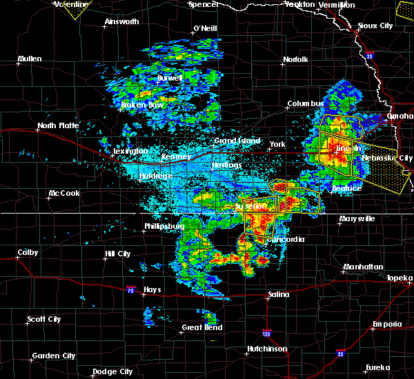 Radar Image for Severe Thunderstorms near Clyde, KS at 6/4/2020 11:58 PM CDT