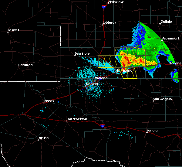 Radar Image for Severe Thunderstorms near Sand Springs, TX at 6/5/2020 12:01 AM CDT