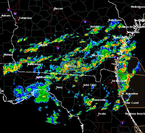 Radar Image for Severe Thunderstorms near Homerville, GA at 6/28/2015 2:56 PM EDT