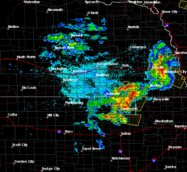 Radar Image for Severe Thunderstorms near Clyde, KS at 6/5/2020 12:21 AM CDT