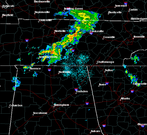 Radar Image for Severe Thunderstorms near Lewisburg, TN at 6/5/2020 12:25 AM CDT