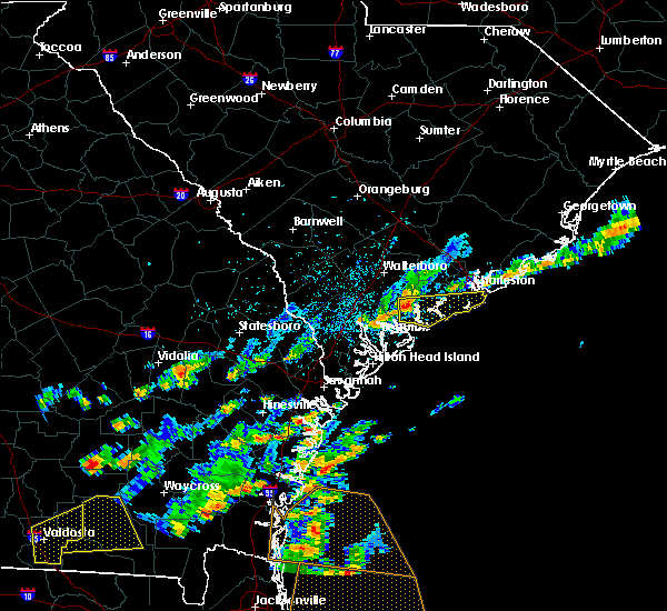 Radar Image for Severe Thunderstorms near Edisto Beach, SC at 6/28/2015 2:55 PM EDT