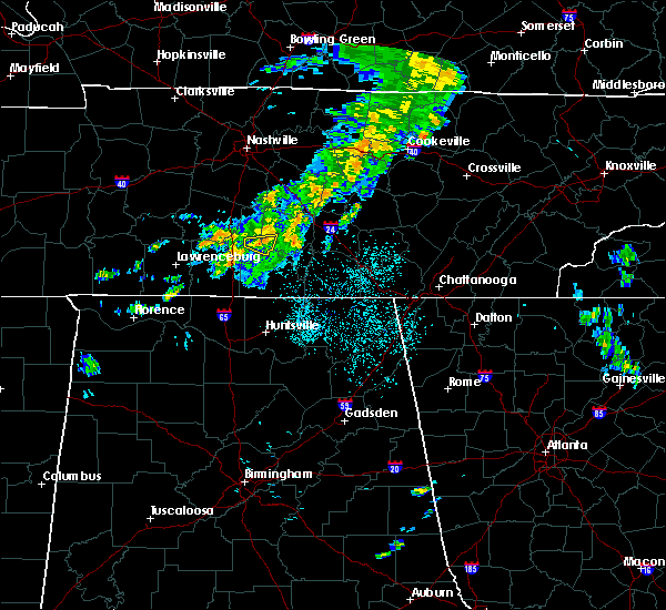 Radar Image for Severe Thunderstorms near Lewisburg, TN at 6/5/2020 12:39 AM CDT