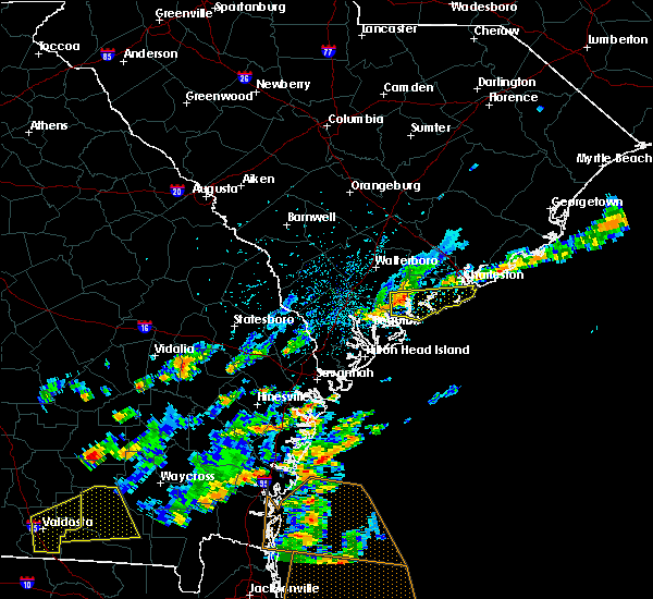 Radar Image for Severe Thunderstorms near Edisto Beach, SC at 6/28/2015 3:04 PM EDT