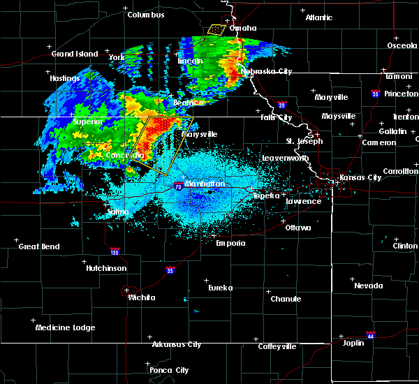 Radar Image for Severe Thunderstorms near Oketo, KS at 6/5/2020 12:53 AM CDT