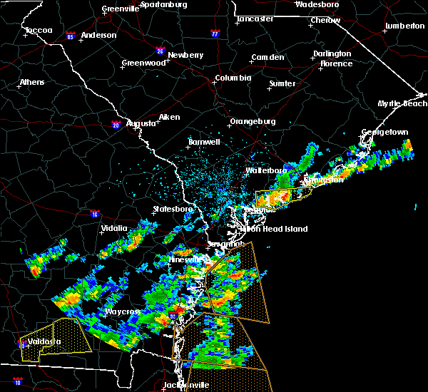Radar Image for Severe Thunderstorms near Kiawah Island, SC at 6/28/2015 3:23 PM EDT