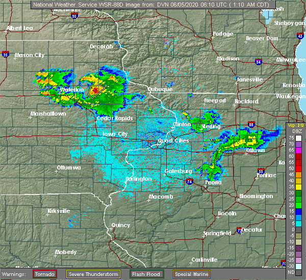 Radar Image for Severe Thunderstorms near Earlville, IA at 6/5/2020 1:15 AM CDT