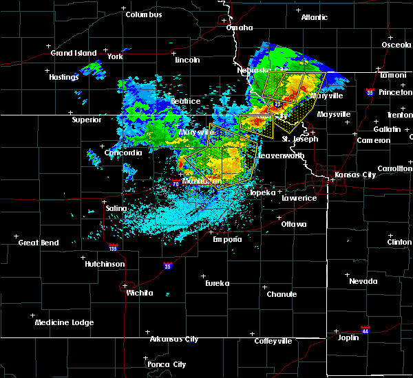 Radar Image for Severe Thunderstorms near Severance, KS at 6/5/2020 2:16 AM CDT