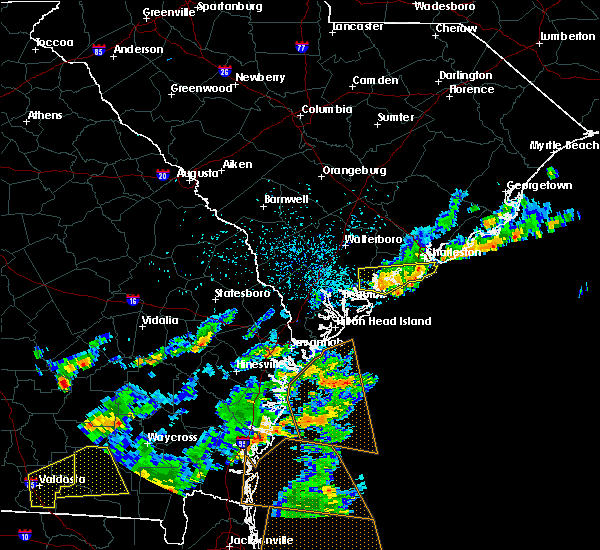 Radar Image for Severe Thunderstorms near Kiawah Island, SC at 6/28/2015 3:36 PM EDT