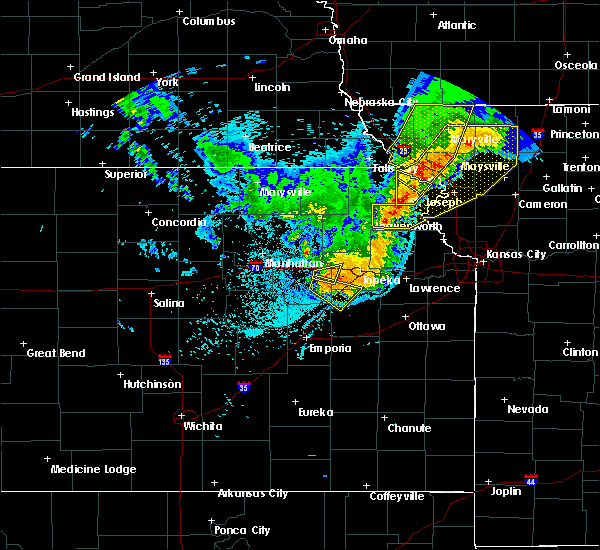 Radar Image for Severe Thunderstorms near Overbrook, KS at 6/5/2020 2:49 AM CDT