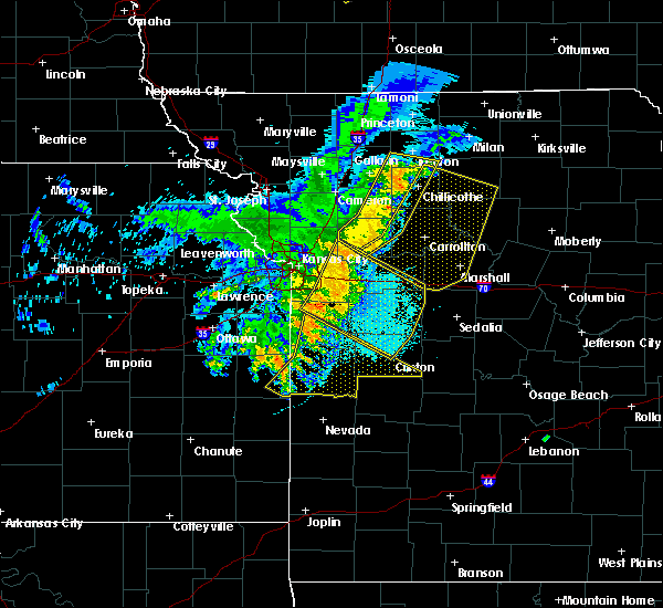 Radar Image for Severe Thunderstorms near Clinton, MO at 6/5/2020 4:35 AM CDT