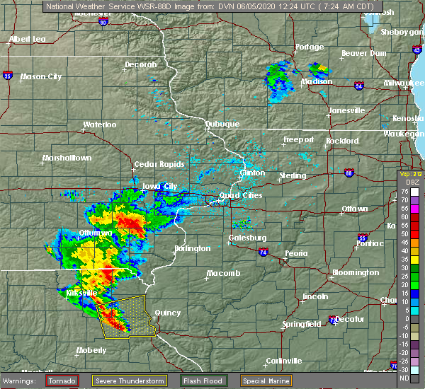Radar Image for Severe Thunderstorms near Mount Union, IA at 6/5/2020 7:30 AM CDT