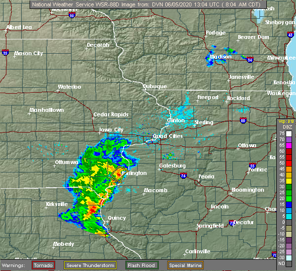 Radar Image for Severe Thunderstorms near Mediapolis, IA at 6/5/2020 8:12 AM CDT
