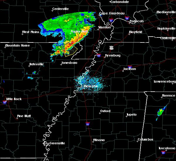 Radar Image for Severe Thunderstorms near McDougal, AR at 6/5/2020 10:50 AM CDT