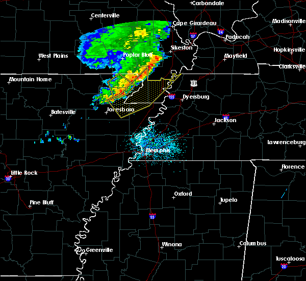 Radar Image for Severe Thunderstorms near Blytheville, AR at 6/5/2020 11:10 AM CDT