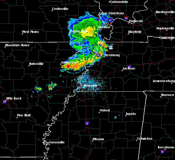 Radar Image for Severe Thunderstorms near Lake City, AR at 6/5/2020 12:22 PM CDT