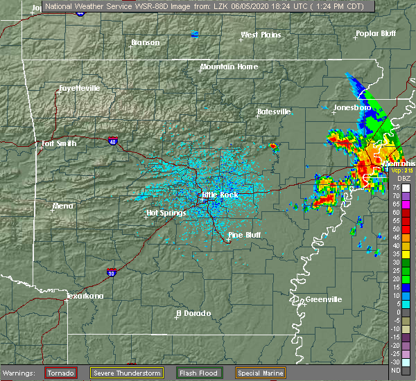 Radar Image for Severe Thunderstorms near Bradford, AR at 6/5/2020 1:31 PM CDT