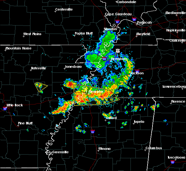 Radar Image for Severe Thunderstorms near Collierville, TN at 6/5/2020 1:44 PM CDT