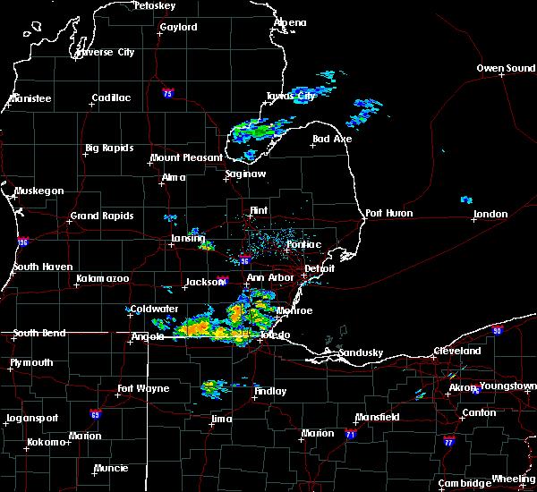 Radar Image for Severe Thunderstorms near Blissfield, MI at 6/5/2020 4:28 PM EDT