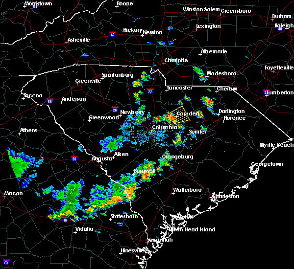 Radar Image for Severe Thunderstorms near Lugoff, SC at 6/5/2020 4:30 PM EDT