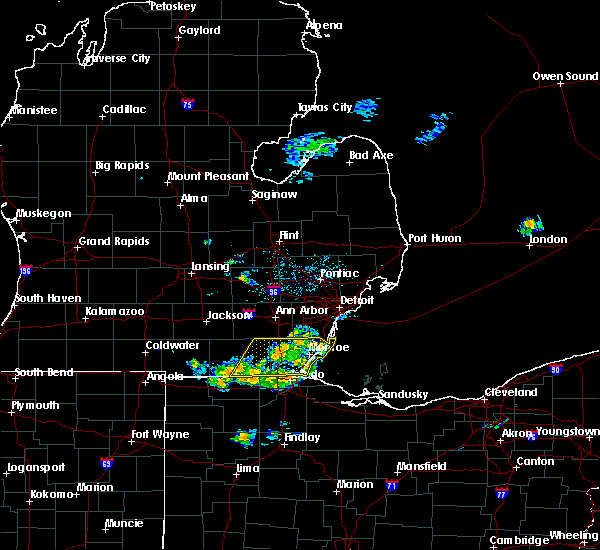 Radar Image for Severe Thunderstorms near Dundee, MI at 6/5/2020 4:45 PM EDT