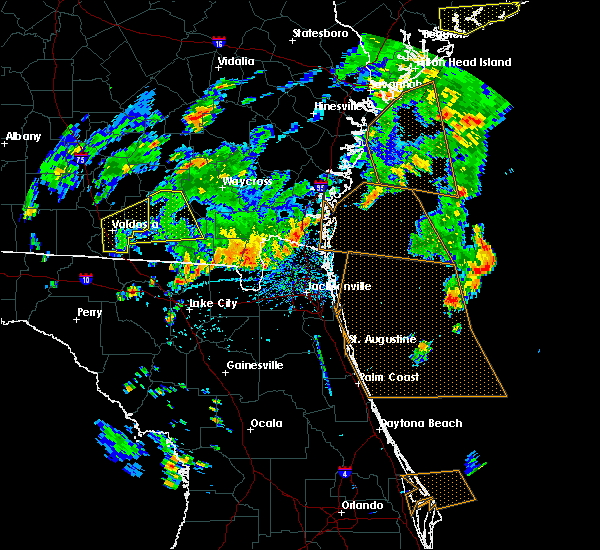 Radar Image for Severe Thunderstorms near Callahan, FL at 6/28/2015 4:37 PM EDT