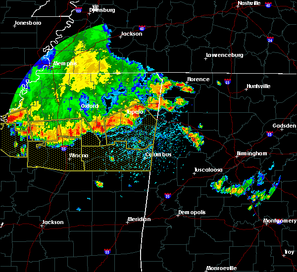 Radar Image for Severe Thunderstorms near Tuscumbia, AL at 6/5/2020 3:54 PM CDT