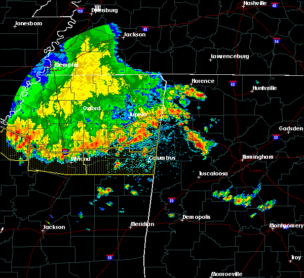 Radar Image for Severe Thunderstorms near Aberdeen, MS at 6/5/2020 4:29 PM CDT