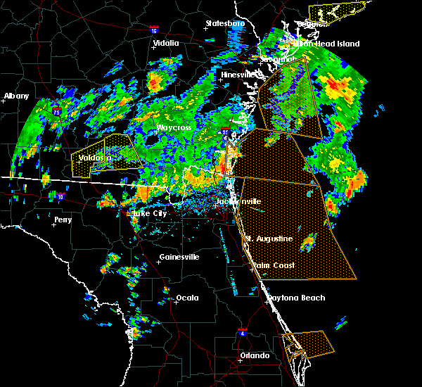 Radar Image for Severe Thunderstorms near Callahan, FL at 6/28/2015 4:58 PM EDT