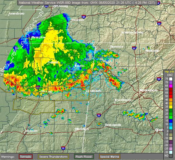 Radar Image for Severe Thunderstorms near Pickensville, AL at 6/5/2020 4:35 PM CDT