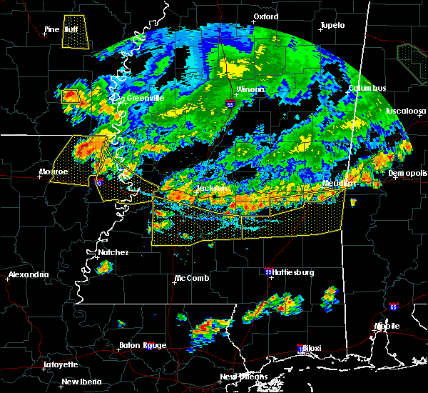 Radar Image for Severe Thunderstorms near Crystal Springs, MS at 6/5/2020 7:07 PM CDT
