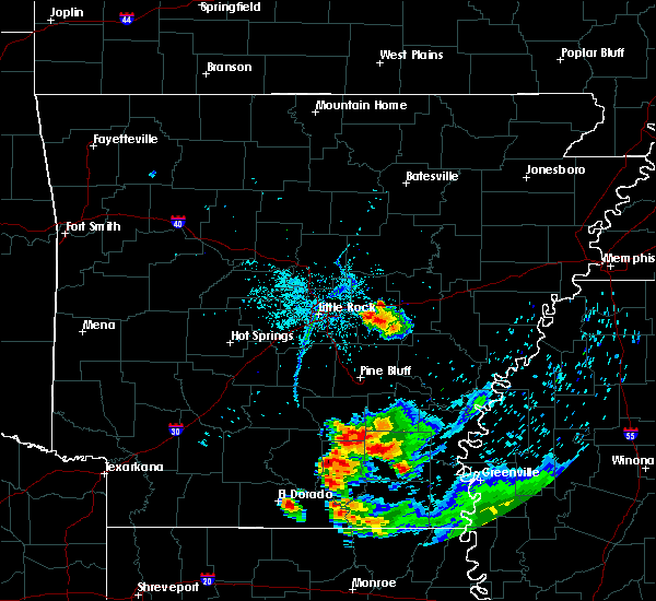 Radar Image for Severe Thunderstorms near Keo, AR at 6/5/2020 8:28 PM CDT