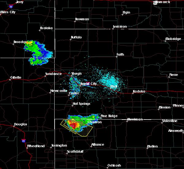 Radar Image for Severe Thunderstorms near Chadron, NE at 6/5/2020 8:16 PM MDT